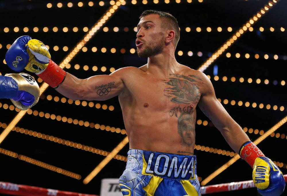 Vasyl Lomachenko evades a punch