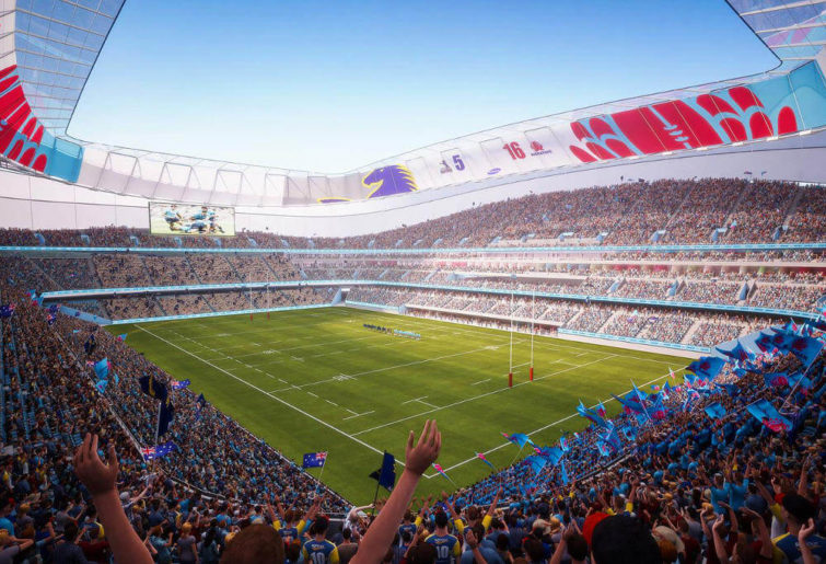 An artist's impression of the Allianz Stadium rebuild