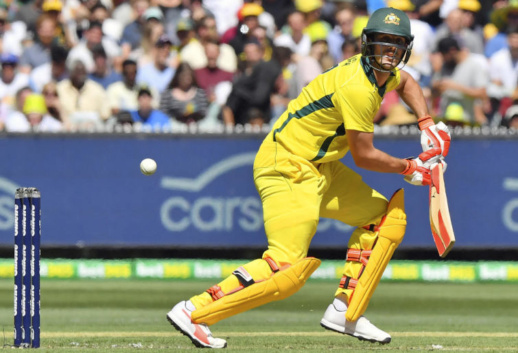 Mitch Marsh looks for a single