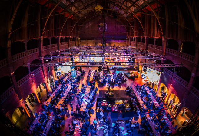 The event hall at the Hearthstone Championship Tour in Amsterdam.