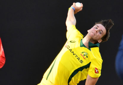 Jhye Richardson and Jason Behrendorff paper over the Australian selection and tactical cracks