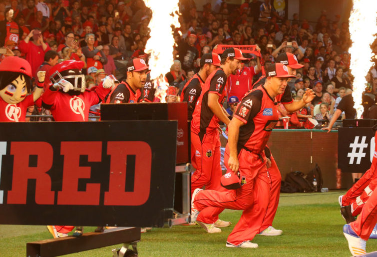 Melbourne Renegades take the field