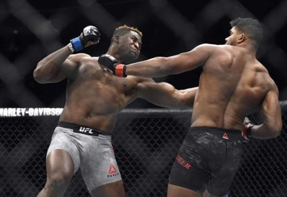 Francis Ngannou stands between Stipe Miocic and UFC history