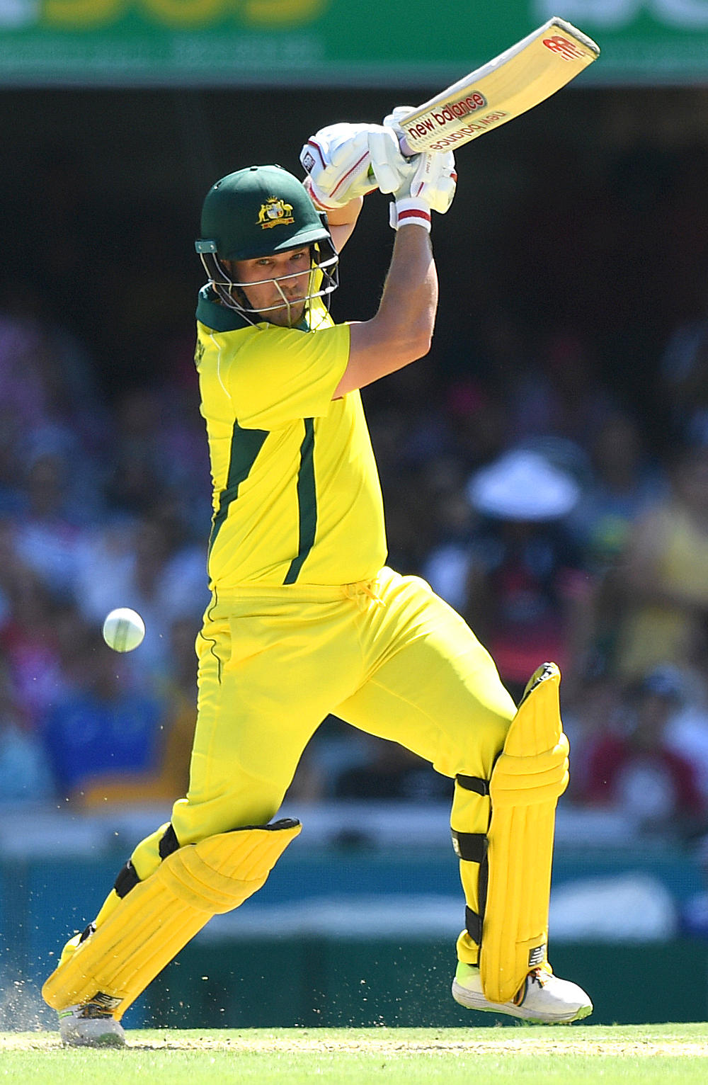 Aaron Finch plays a square drive