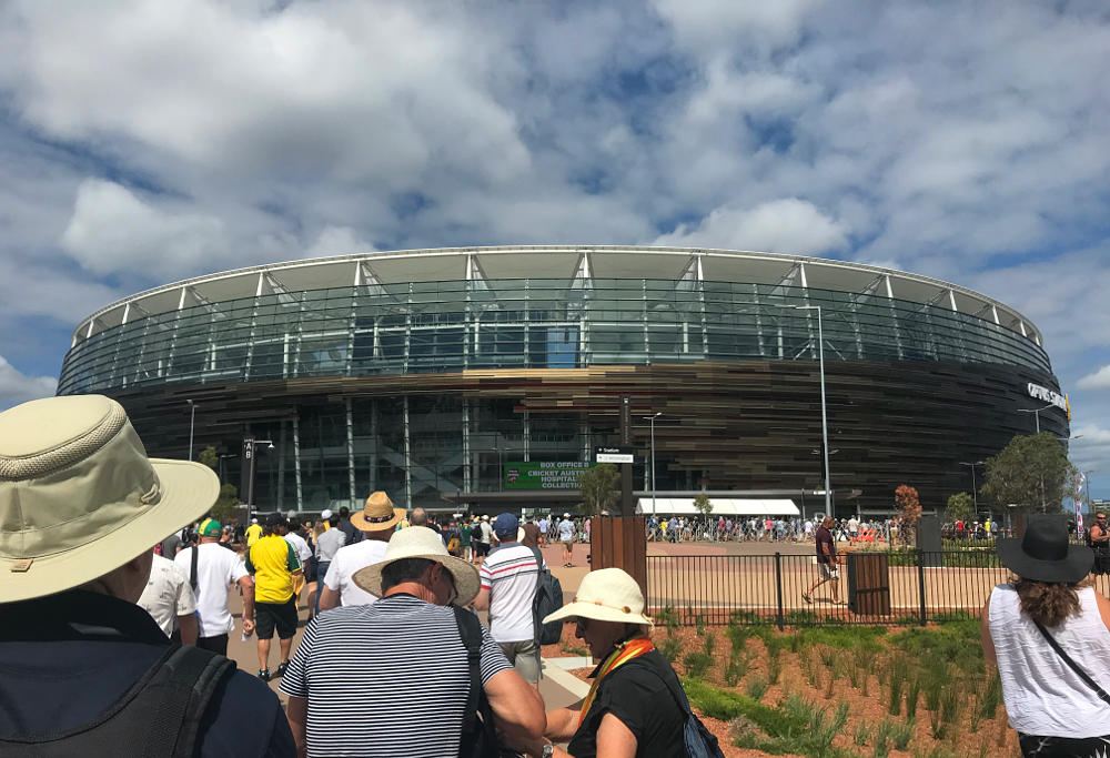 Fans outside Optus Stadium