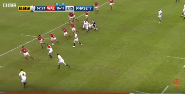 England rugby attack pattern