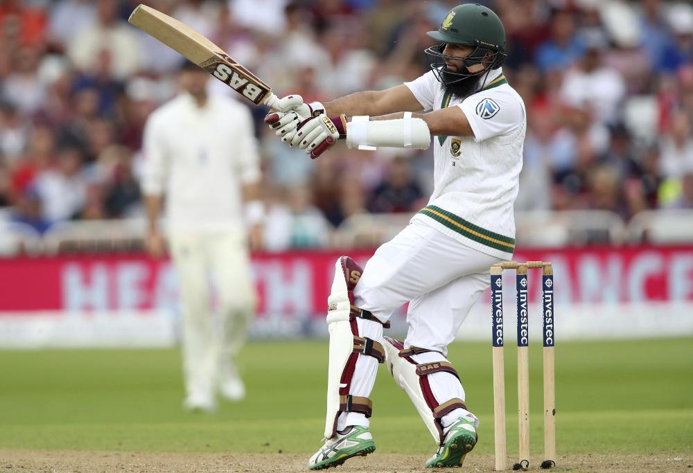 Hashim Amla batting against England