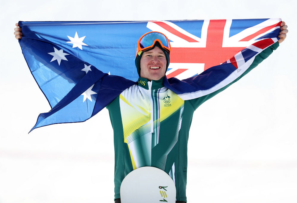 Jarryd Hughes after winning silver