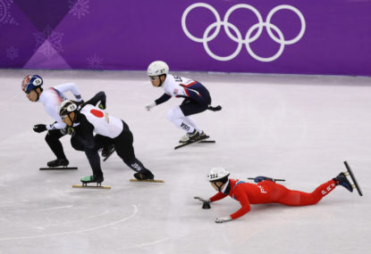 North Korean skater involved in tripping controversy at the Winter Olympics