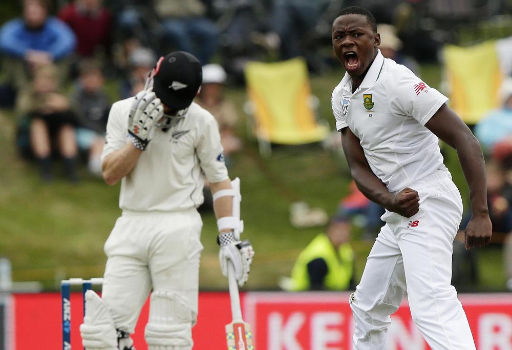 Kagiso Rabada takes wicket of Kane Williamson