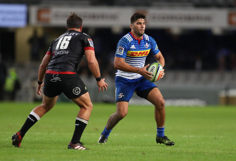DURBAN, SOUTH AFRICA - MAY 27: Damian de Allende of the DHL Stormers during the Super Rugby match between Cell C Sharks and DHL Stormers at Growthpoint Kings Park on May 27, 2017 in Durban, South Africa.