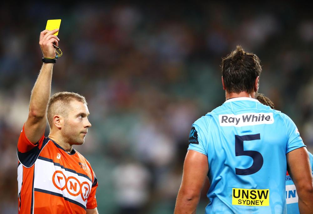 Rob Simmons yellow card