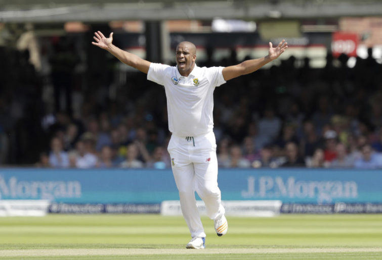 Vernon Philander appeals at Lord's.