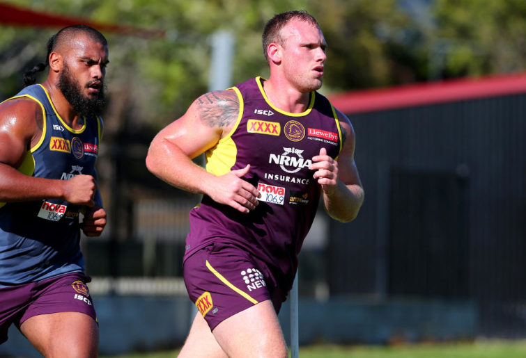 Matt Lodge at Brisbane Broncos training