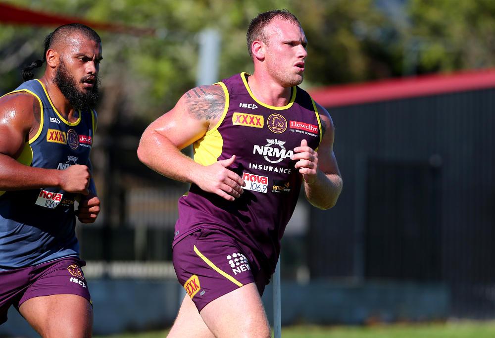 Matt Lodge at Brisbane Broncos training