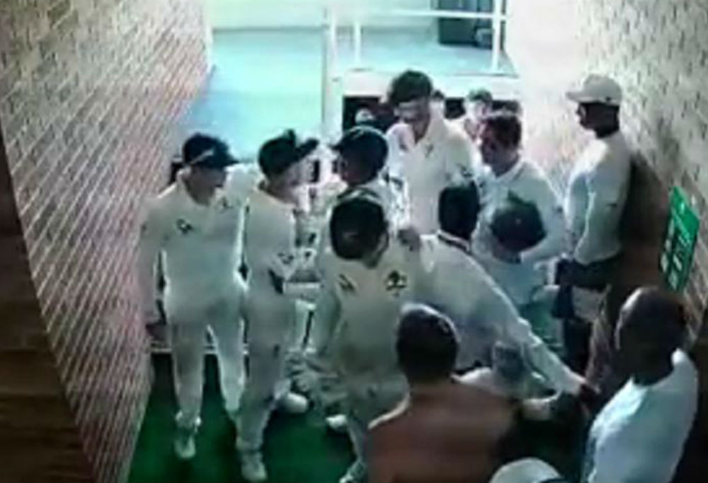 David Warner in dressing room