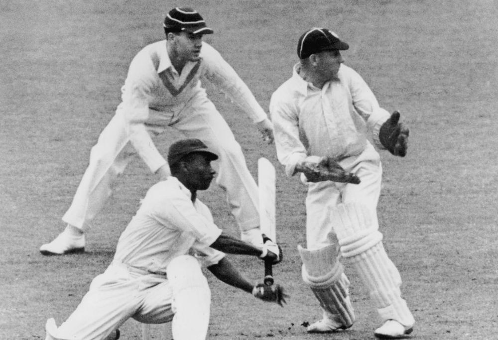 West Indies cricketer George Headley (1909 - 1983) batting against Surrey at The Oval, London, 1939.