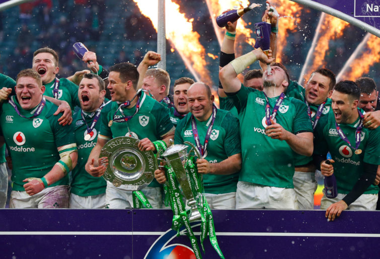 Ireland celebrate Six Nations Championship win
