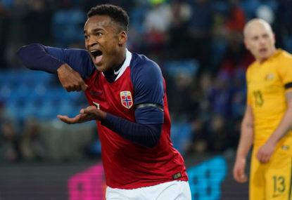 cbb409fca Socceroos thrashed 4-1 in Oslo