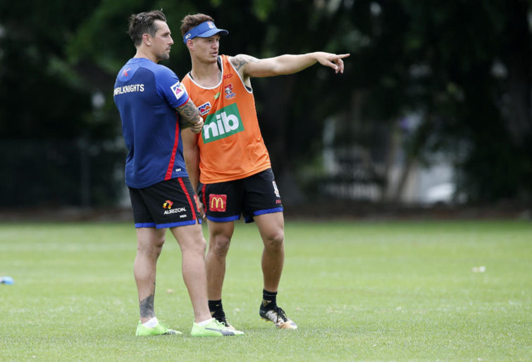 Kalyn Ponga and Mitchell Pearce.