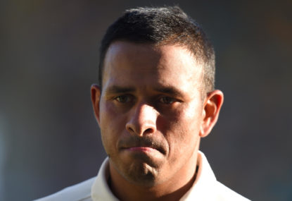 Gutsy is calling? I'd ask to speak to Usman Khawaja