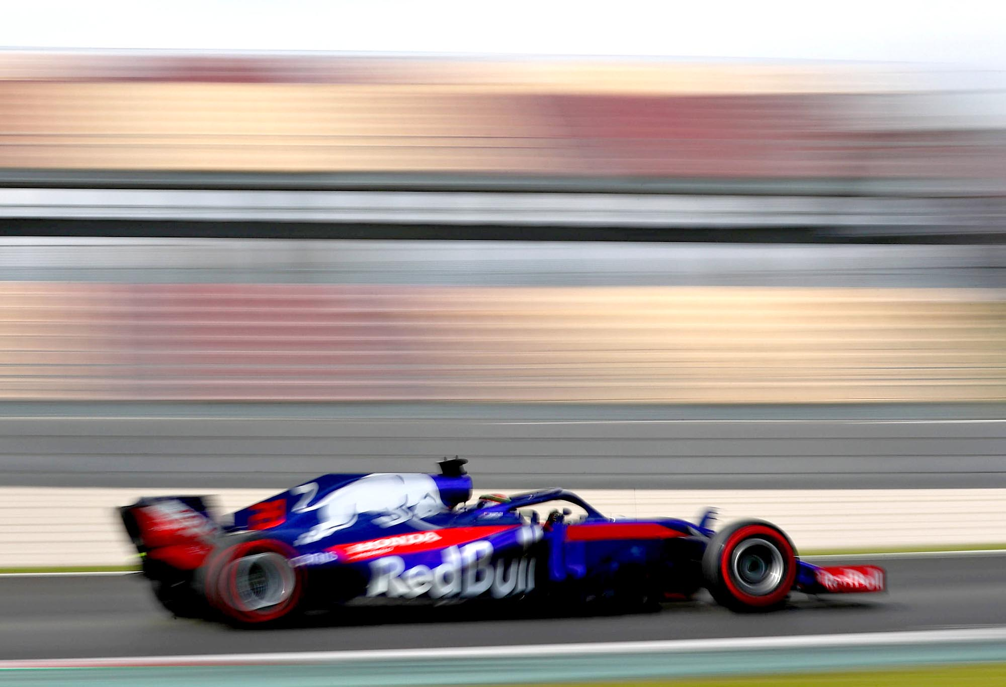 Toro Rosso's Brendon Hartley during 2018 preseason testing