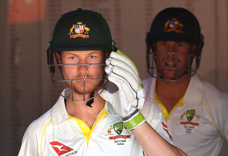 Australian opening batsman Cameron Bancroft walks out of the dressing rooms