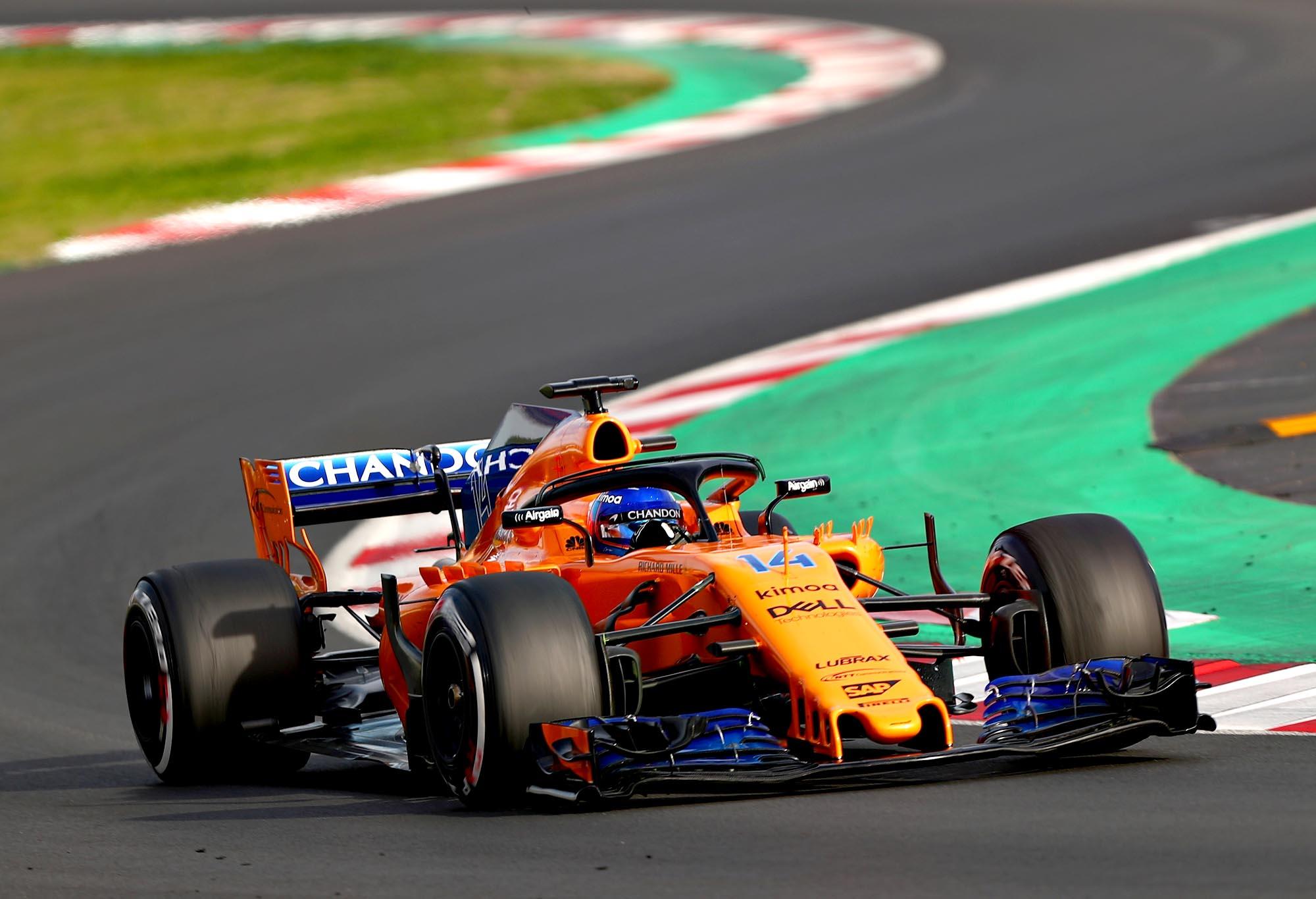 McLaren's Fernando Alonso during 2018 preseason testing
