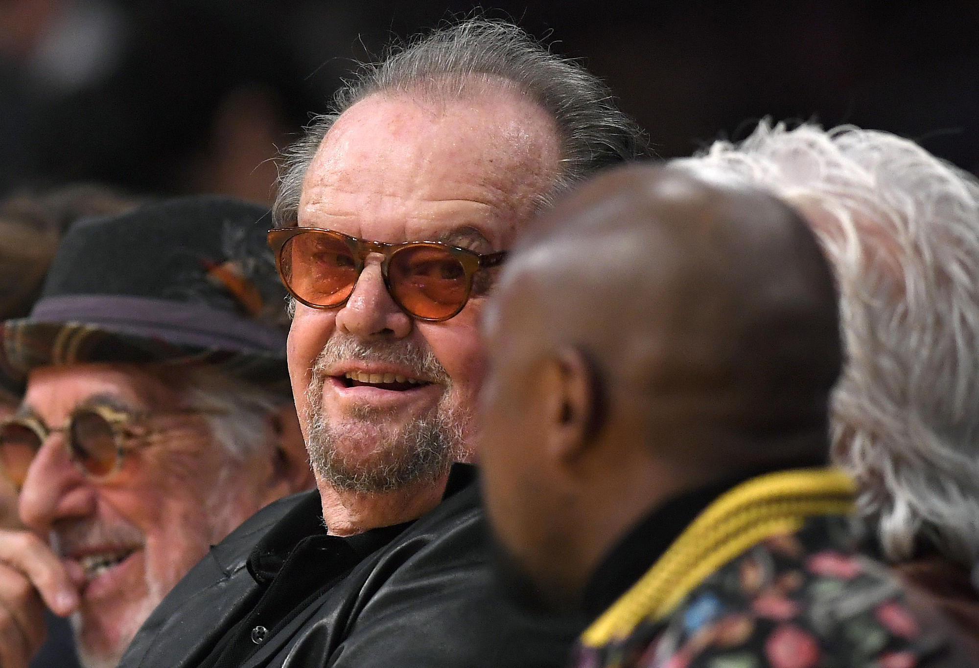 Jack Nicholson courtside at Staples Centre