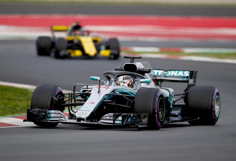 Mercedes's Lewis Hamilton during 2018 preseason testing