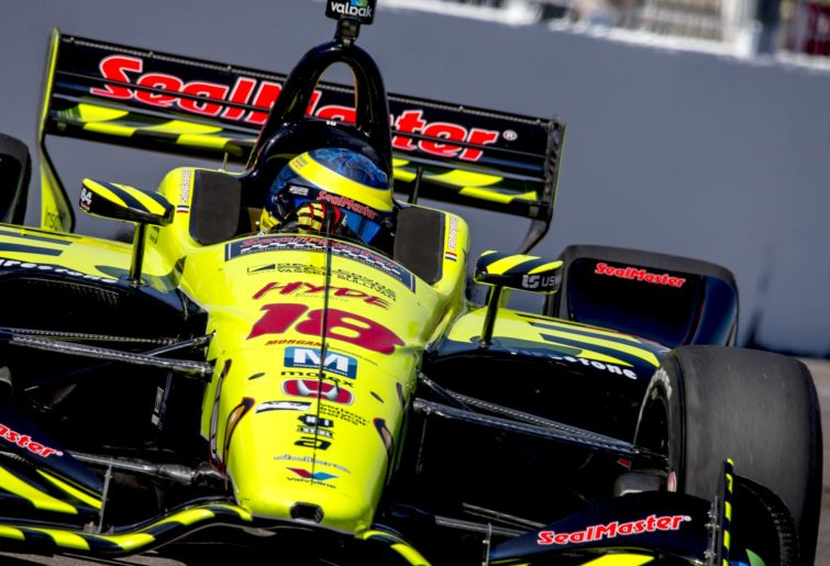 Sebastien Bourdais driving for Dayle Coyne Raacing in St Petersburg
