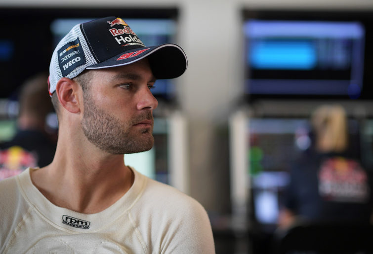 Shane van Gisbergen in Triple Eight garage
