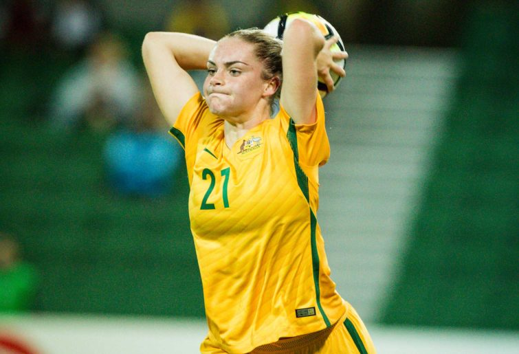 Ellie Carpenter for the Matildas