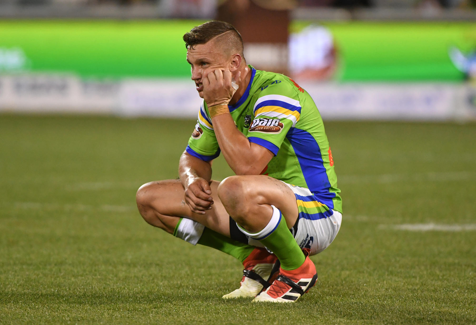 Raiders Jack Wighton looks on