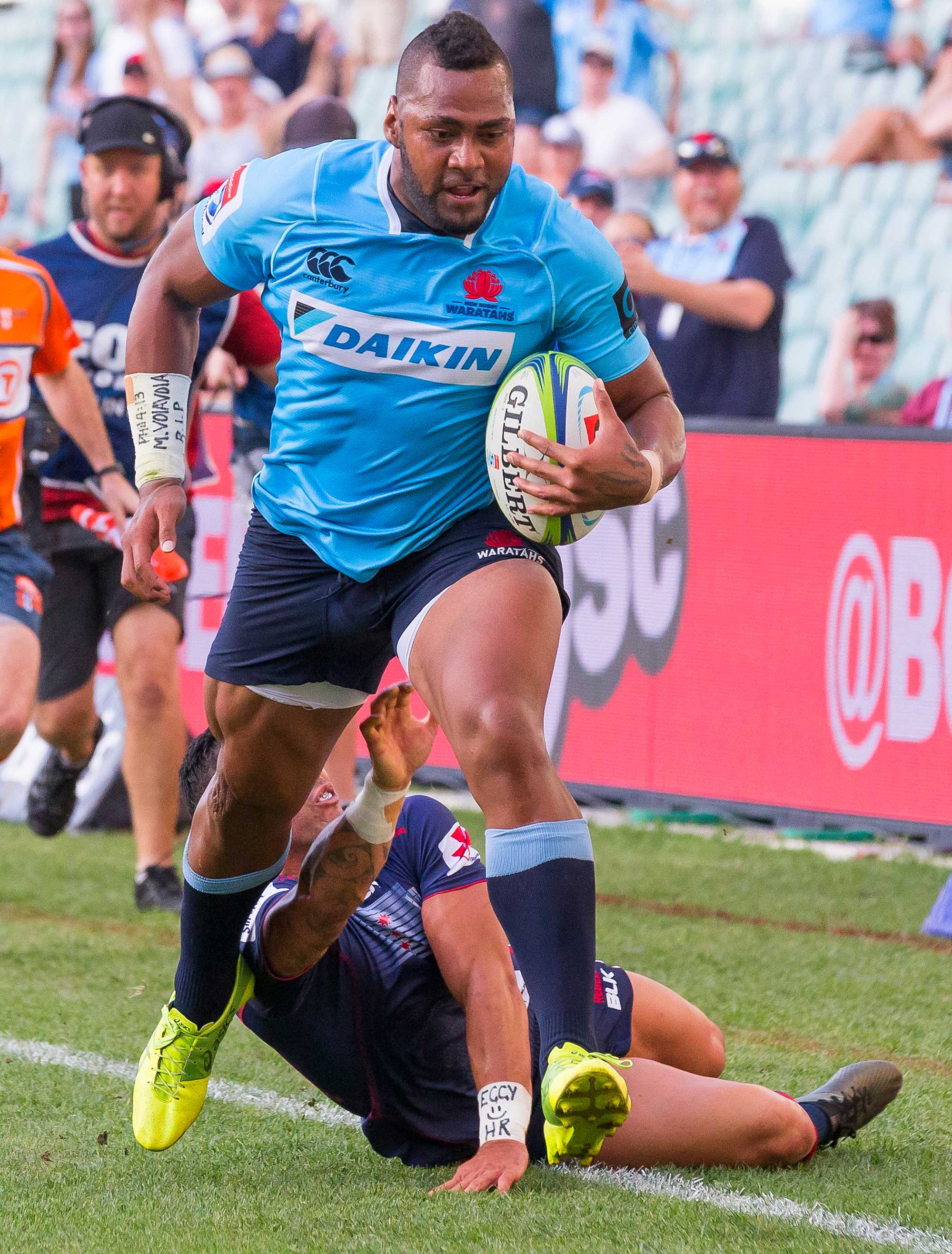 Taqele Naiyaravoro of the Waratahs