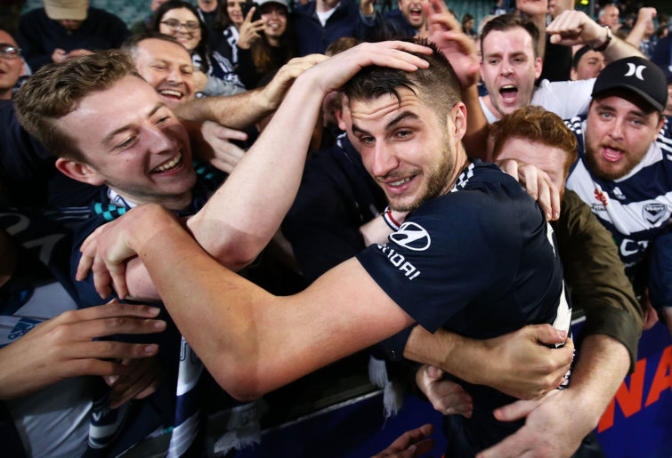 Terry Antonis and fans celebrate