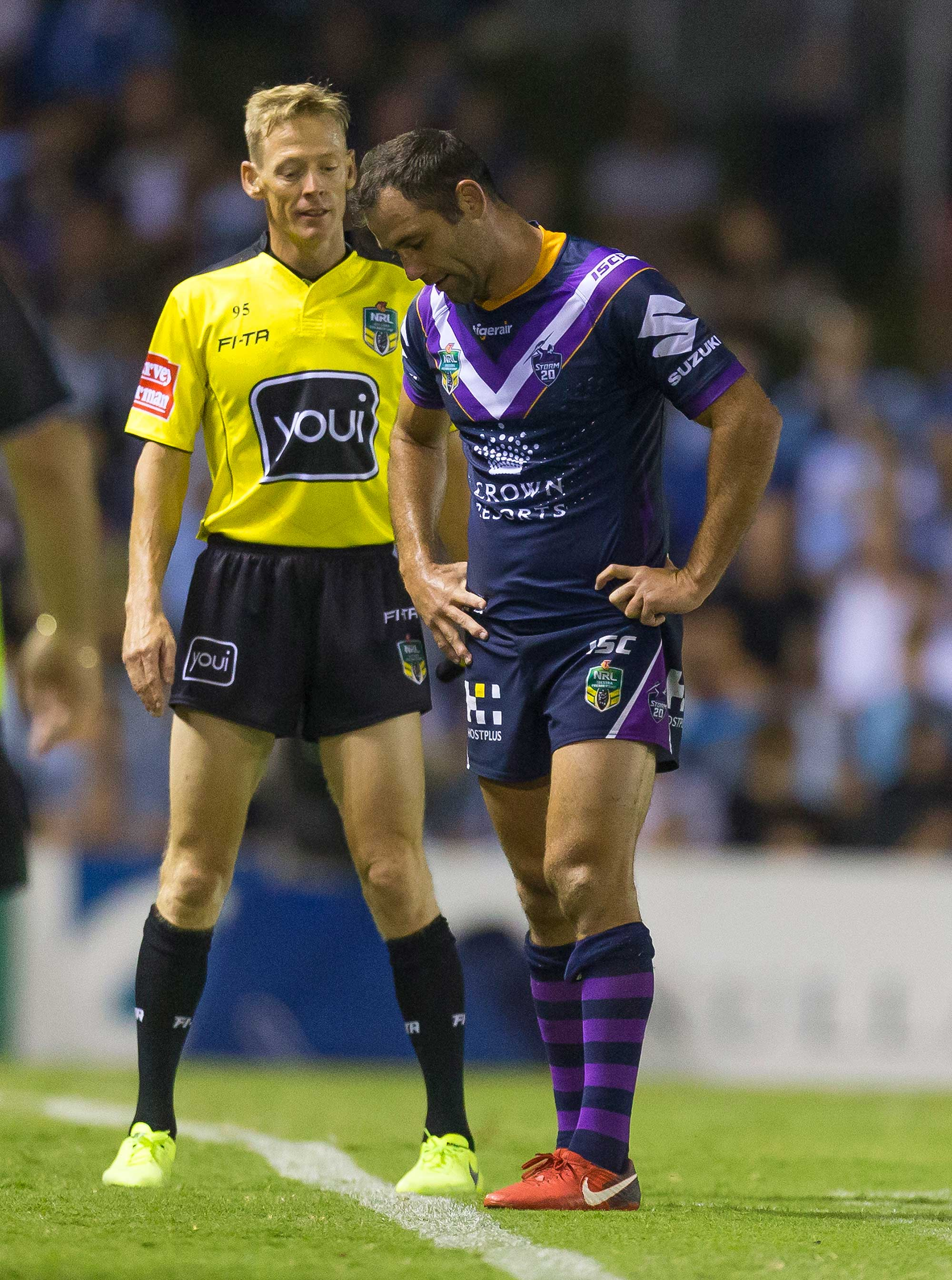 Cameron Smith of the Storm is sin binned