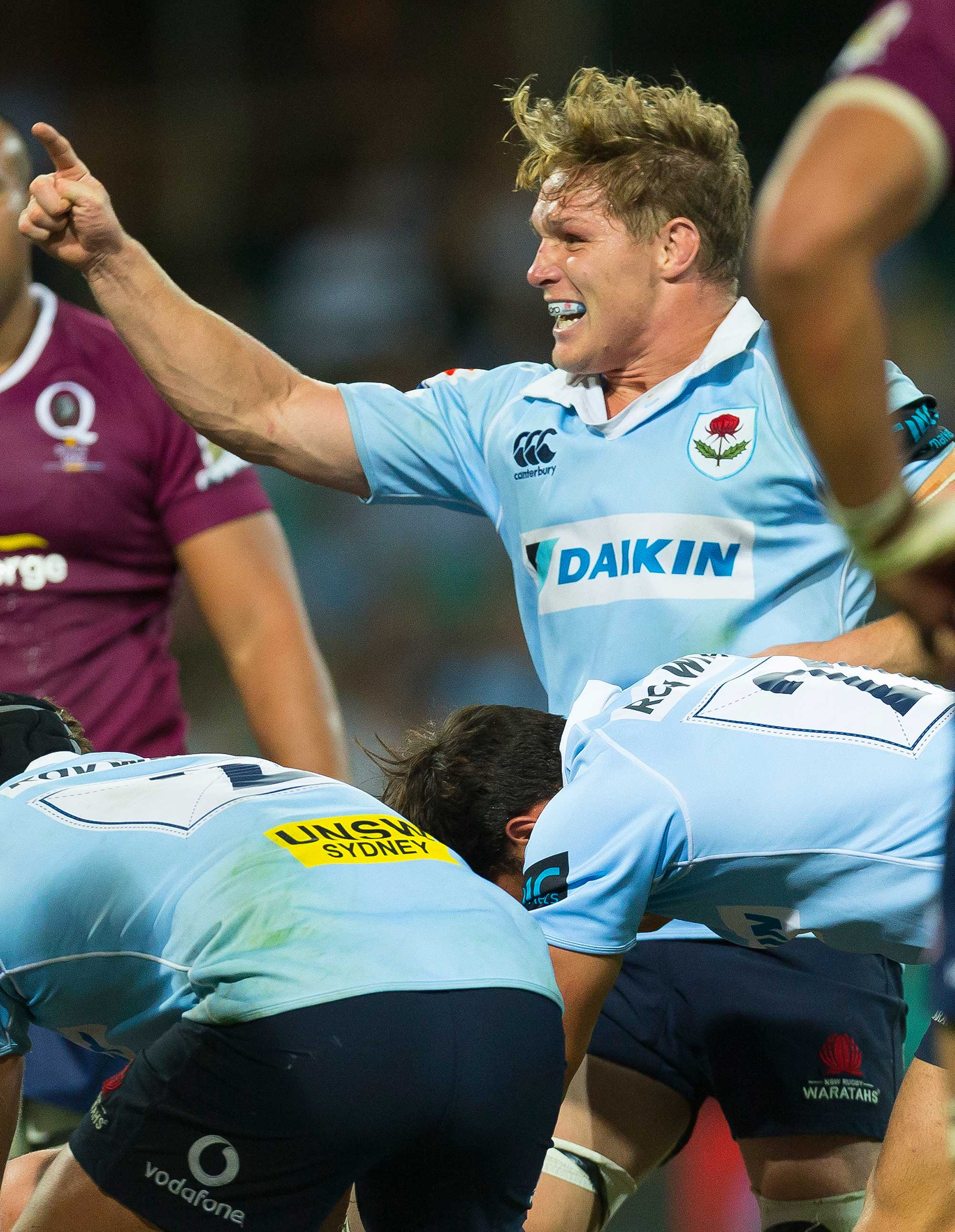 Michael Hooper of the Waratahs tall