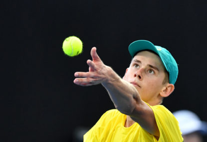 Alex de Minaur fights back to level Davis Cup tie