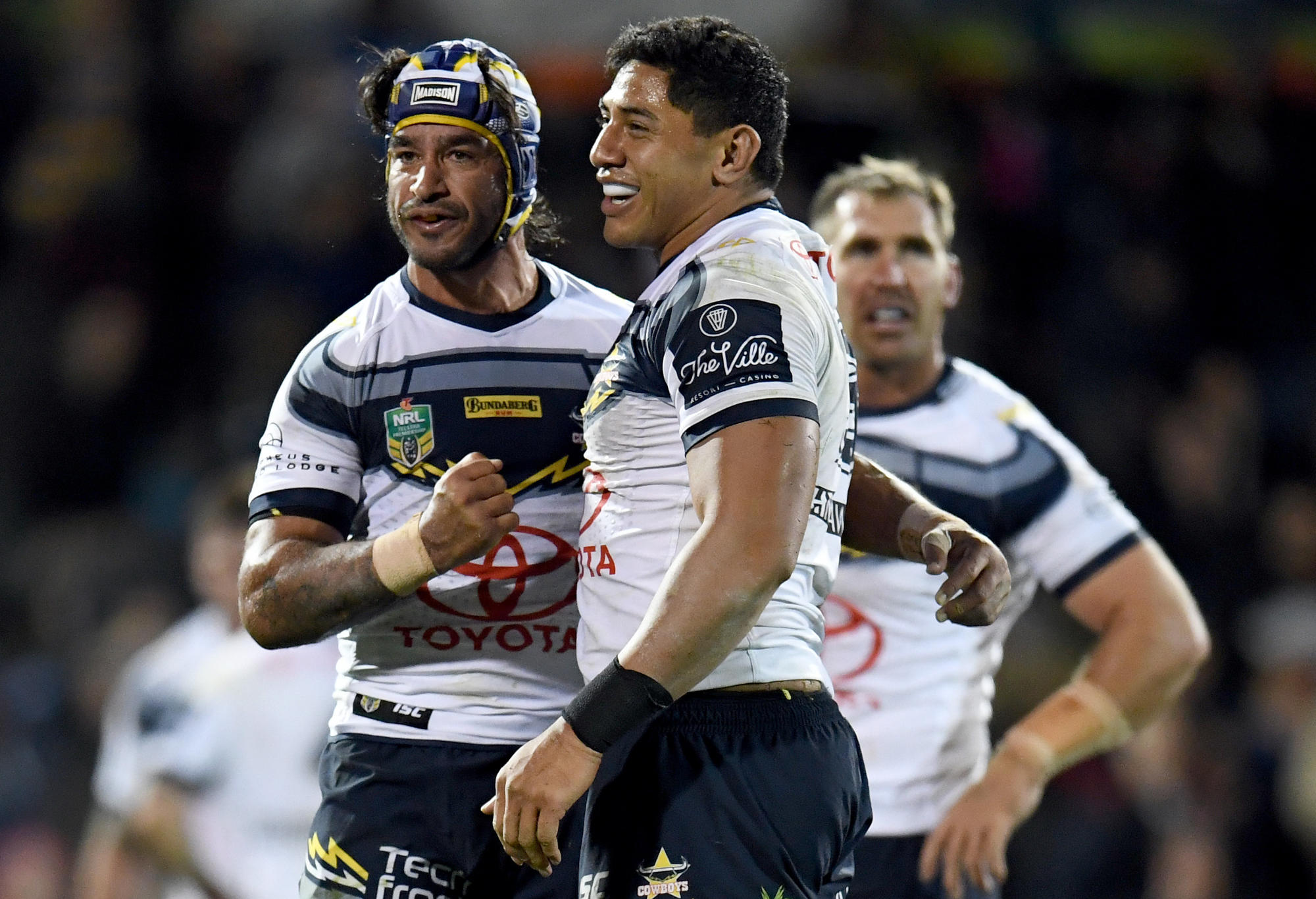 Cowboys Johnathan Thurston and Jason Taumalolo
