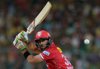 Glenn Maxwell comes up just short for Kings XI