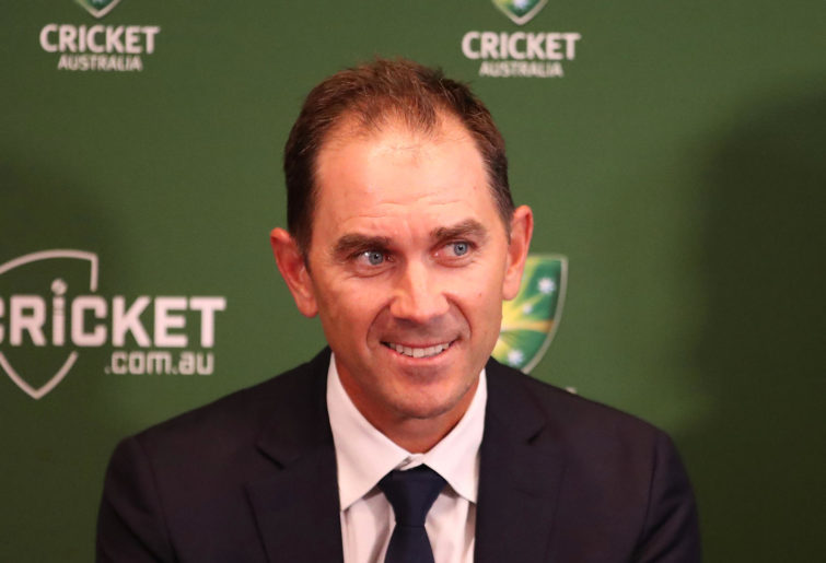 Justin Langer, coach of Australia speaks to the media during a press conference on May 3, 2018 in Melbourne, Australia.