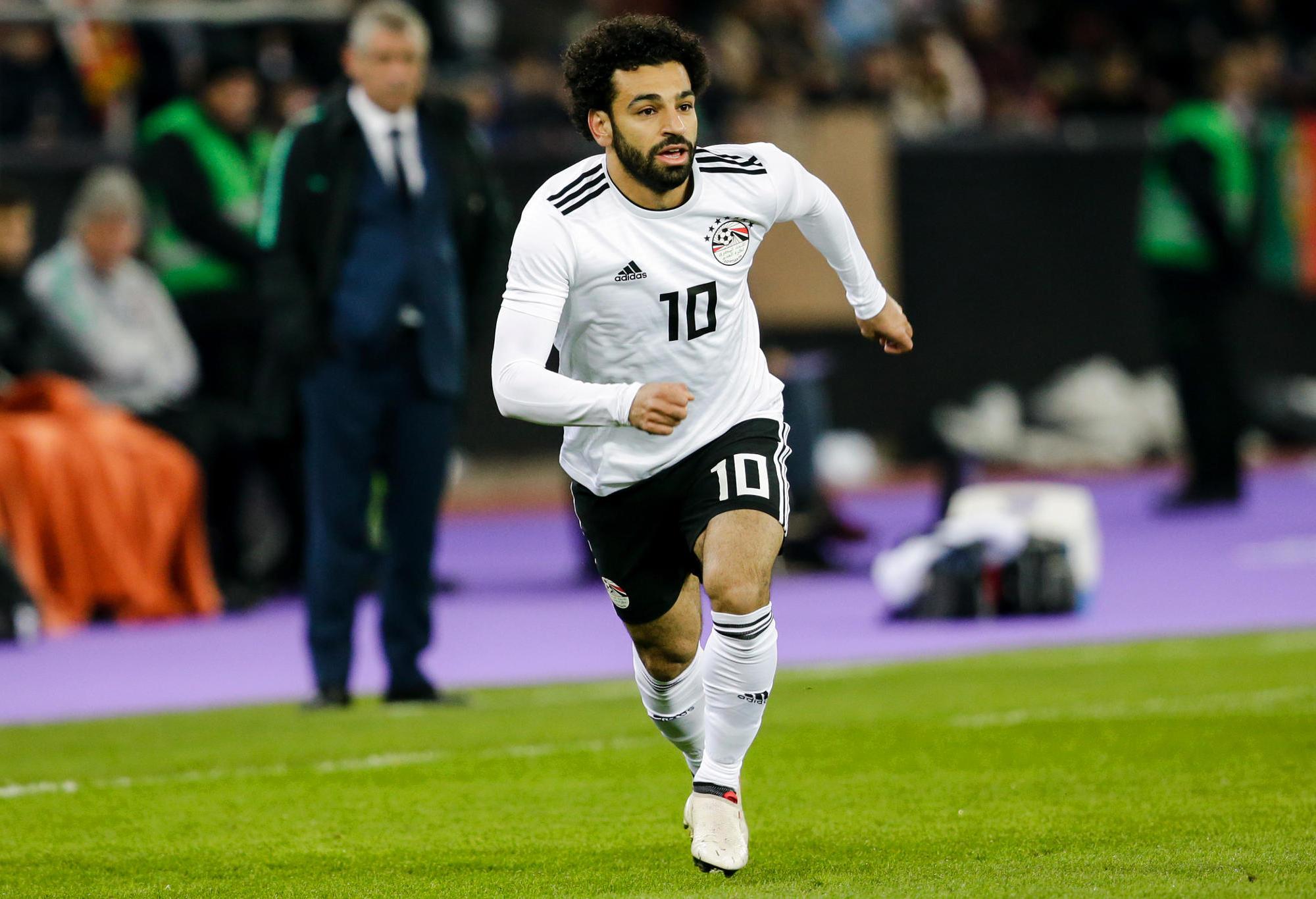 Mohamed Salah runs.