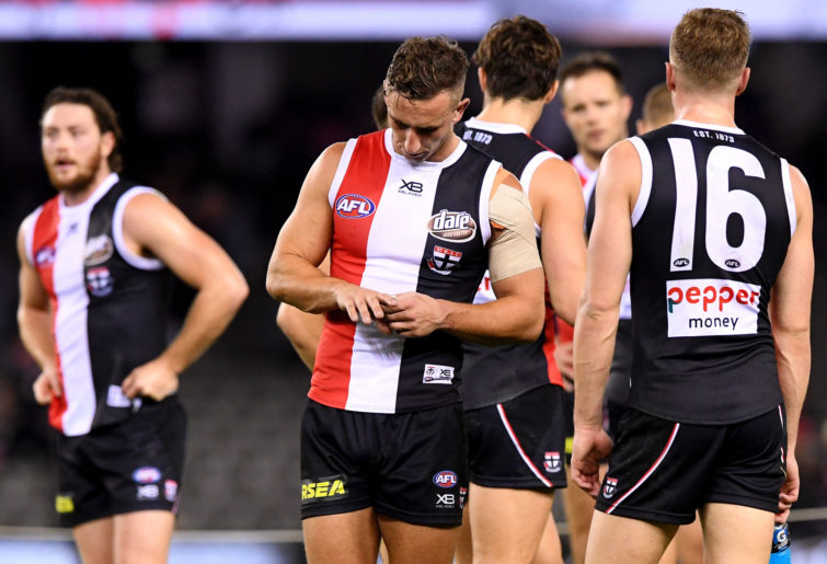 St Kilda Saints look sad after losing