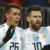 Sergio Aguero, Lionel Messia and other Argentinian teammates celebrate