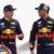 Red Bull Racing's Daniel Ricciardo and Max Verstappen at the 2018 Bahrain Grand Prix.