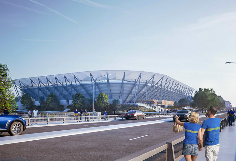 Artist's impression of Parramatta Stadium