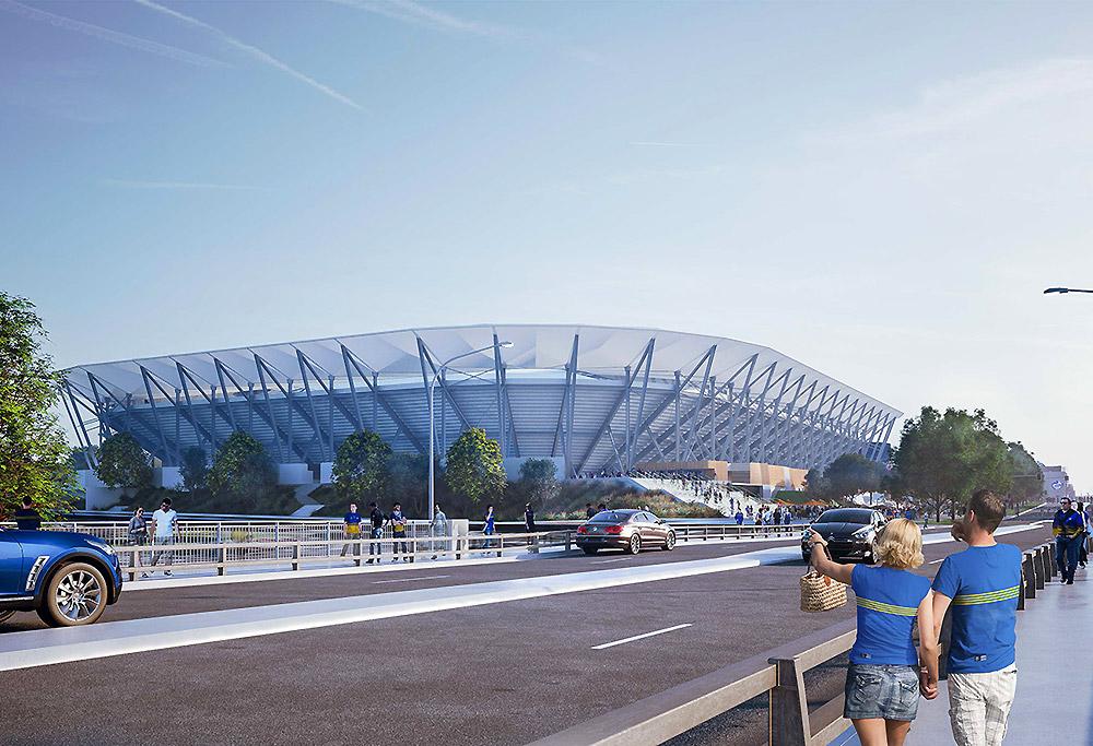 Artist's impression of Parramatta Stadium