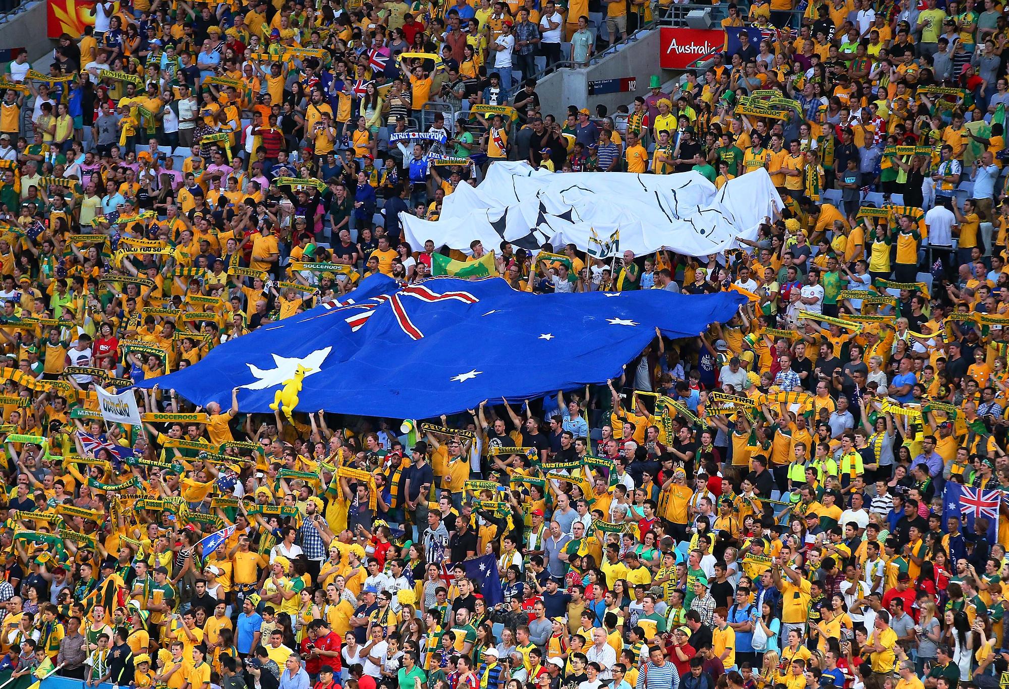 Socceroos fans celebrate