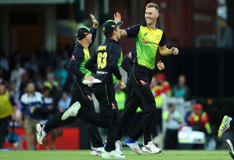 Billy Stanlake celebrates a wicket.